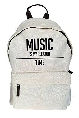 Teequote Music Is My Religion Stampa Zaino casuale Beige Borsa Sacchetto
