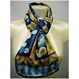Coveri Foulard seta donna scarf silk woman ENRICO COVERI a.MULTICOLOR c.turchese Italy