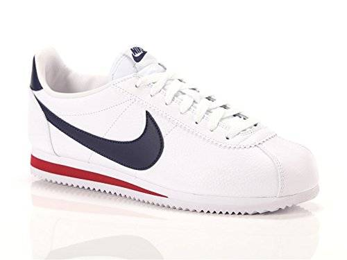 Nike Uomo, Classic Cortez Leather, Pelle, Sneakers, Bianco, 46 EU