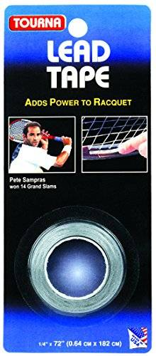 Tourna Grip Tourna Lead Tape Tennis Racquet Racket Tape Golf Club 1/4 Inch By 72 Inch