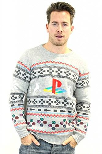 Sconosciuto PlayStation Official Console Christmas Jumper / Sweater (X Large)
