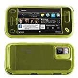 Logotrans mini Glossy Series Custodia in silicone per Nokia N97, colore: Verde