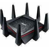 Asus RT-AC5300 Tri-band 4x4 Gigabit Wireless Gaming Router con AiProtection Powered by Trend Micro, WTFast Game Accelerator, Asus Router App, Dual-WAN 3G/4G Support