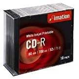 Imation CD-R 80 Printable - Confezione da 10