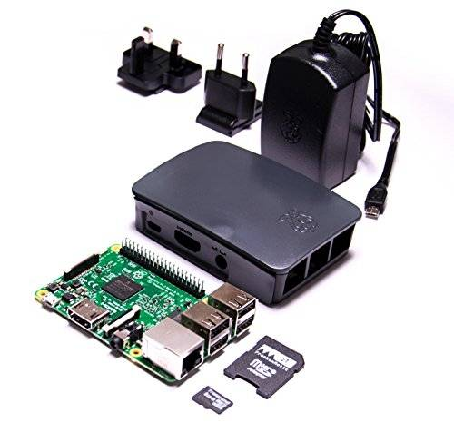frankenmatic F896 - 8860 - 10 Raspberry Pi 3 Basic Set (Squeez Elite Wi-Fi Music Player, alloggiamento, adattatore, 8 GB microSDHC)
