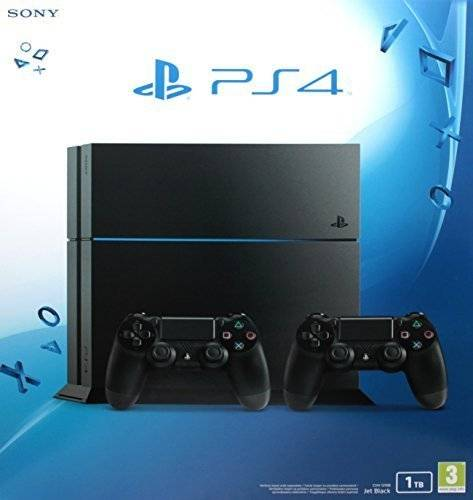 Sony PlayStation 4 1 Tb C Chassis Black + 2° Dualshock, Nero