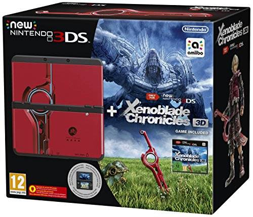 Nintendo New Nintendo 3DS: Console, Nero + Xenoblade 3D Pack - Limited Edition