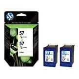 HP C6657AE DJ5550 2 PK NO57 Inkjet / getto d'inchiostro Cartuccia originale
