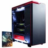Vibox Legend 8 Gaming PC con Gioco War Thunder, 4.4GHz Intel i7 Quad Core Processore, 2x nVidia GeForce GTX 980 Ti SLI Scheda Grafica, 240GB SSD, 3TB HDD, 32GB RAM, Case NZXT H440, Nero/Rosso