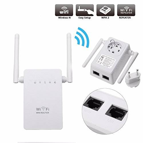 MECO 300Mbps WIFI WLAN Repeater Router Connettore Range Ripetitori Extender Expander Amplificazione Bianco