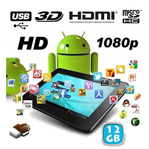YONIS Tablet touch 7 pollici, Android, Full HD 3D 1080p 12 GB