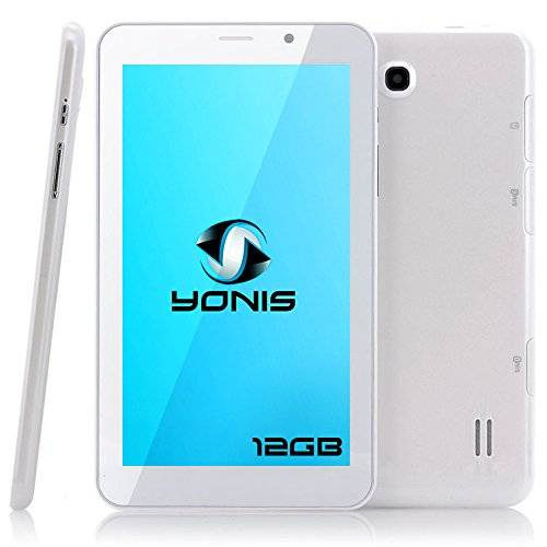YONIS Tablet Touch 3 G 7 pollici Android 4.4 Dual Core SIM GPS 8 GB Bianco