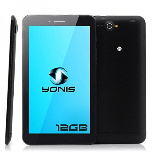 YONIS Tablet Touch 3G Dual SIM 7pollici Dual Core Bluetooth GPS 12GB