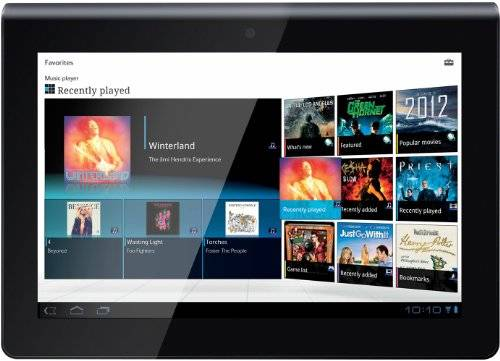 Sony Tablet PC da 23,8 cm (9,4 pollici), NVIDIA Tegra2, 2GHz, 1GB RAM, 16GB SSD, Android 3.0, WLAN, Bluetooth, senza 3G, colore: Nero/Argento