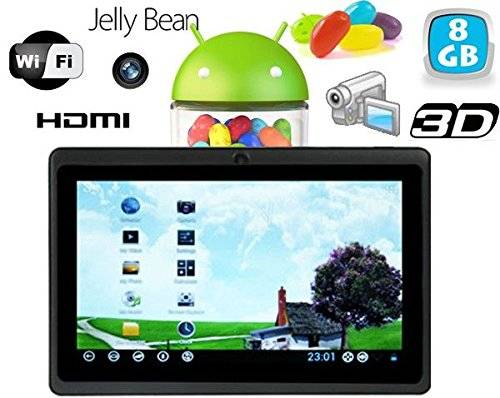 YONIS Tablet Touch Android 4.1Jelly Bean 7pollici hdmi 8gb nero