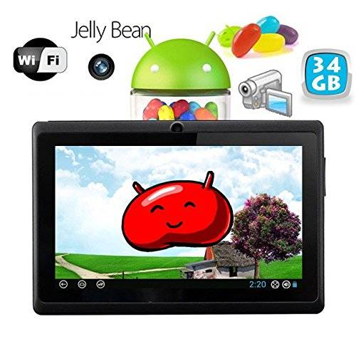 YONIS Tablet Touch Android 4.1 Jelly Bean 7 pollici capacitivo 34 GB Nero