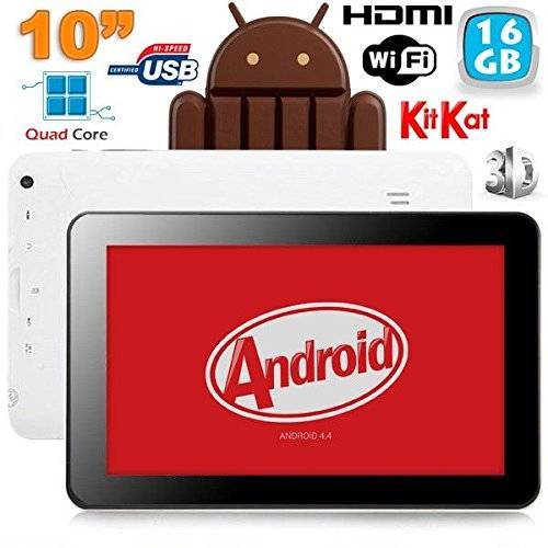 YONIS 10pollici Tablet capacitivo Android 4.4Kitkat HDMI 3d 16GB