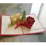 MADE4U [di Natale e Capodanno Collection] Kirigami Papercraft 3D Pop Up card HKCH04 Christmas gift