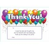 School Stickers Balloon Thank You Party Cards