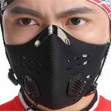FaithYoo Outdoor Sports Mask Filter air inquinante per bicicletta per viaggi e altre attività all'aria aperta-universale black-1