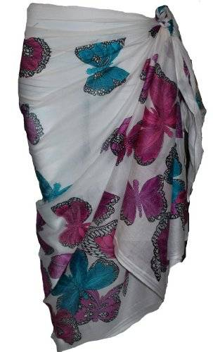 passion4fashion White Sarong with Butterfly Design