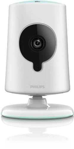 Philips B120E/10 Baby Monitor Wireless, HD, Insight per iPhone/iPad, 30 fps, 535 g, Bianco
