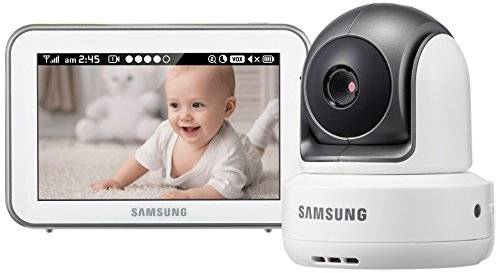 Samsung Wireless Pan/Tilt, Zoom-Baby Monitor con Video