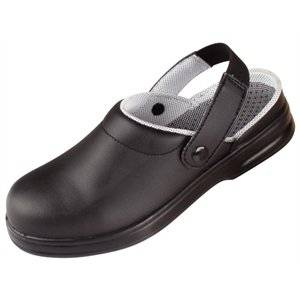 Home Black Unisex Safety Clogs