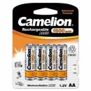 Camelion NH-AA1800-BP4 - rechargeable batteries (Nickel Metal Hydride, Universal, AA, Multicolour, Blister)