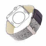 Bandmax Apple Watch Cinturino, Bandmax Classic Woven Nylon 42mm Apple Watch Band Replacement Wrist Strap per iWatch Sport/Edition Series 1/2 42mm (Multicolore)
