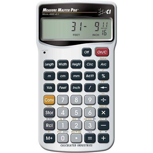 Calculated Industries Measure Master Pro - calculators (Pocket, Silver, Buttons, 15.88 x 63.5 mm, 15.9 x 63.5 mm (0.625 x 2.5