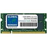 GLOBAL MEMORY 1GB DDR2 400/533/667/800MHz 200-PIN SODIMM MEMORIA PER PC PORTATILI