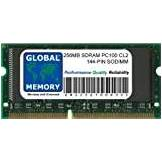 GLOBAL MEMORY 256MB PC100 100MHz 144-PIN SDRAM SODIMM MEMORIA PER PC PORTATILI