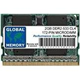 GLOBAL MEMORY 2GB DDR2 533MHz PC2-4200 172-PIN MICRODIMM MEMORIA PER PC PORTATILI