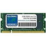GLOBAL MEMORY 2GB DDR2 533/667/800MHz 200-PIN SODIMM MEMORIA PER PC PORTATILI