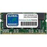 GLOBAL MEMORY 1GB DDR 266MHz PC2100 200-PIN SODIMM MEMORIA PER PC PORTATILI