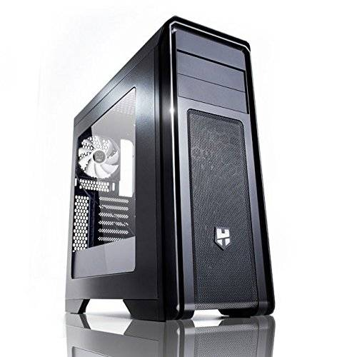Nox Hummer ZX Case Middle Tower Full con Finestra e USB 3.0, Nero