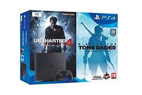 Sony PlayStation 4 1 Tb D Chassis Slim + Uncharted 4 + Tomb Raider [Bundle]