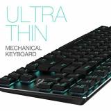 HAVIT Mechanical Keyboard HAVIT Backlit Wired Gaming Keyboard Extra-Thin & Light, Kailh Latest Low Profile Blue Switches, 87 Keys N-key Rollover (KB390L, Black)