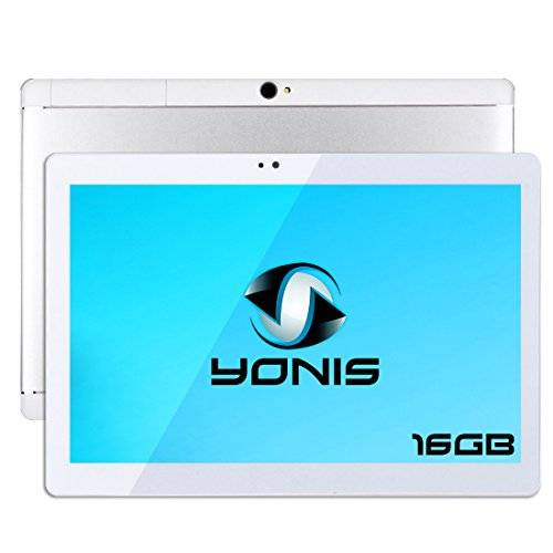 YONIS Tablet 10pollici Android 6.0touch Dual Sim 3G Bluetooth Argento
