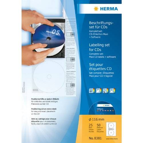 Herma CD labelling set with CD labels + software
