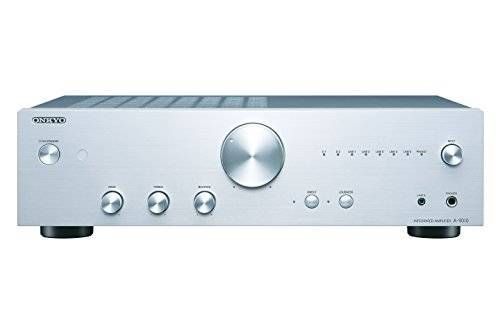 Onkyo A-9010 Amplificatore Stereo Audiophile con LED, GND, MM, WRAT, Argento