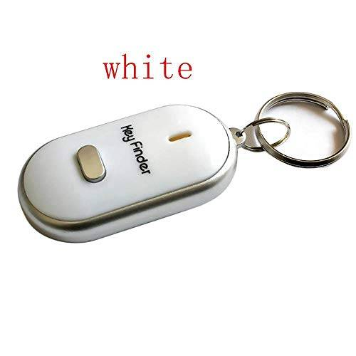 Kryily Prodotti elettronici Tracker Keychain, Key Finder Anti Lost Alarm, Metal Key Chain Item Remote (Colore : White)