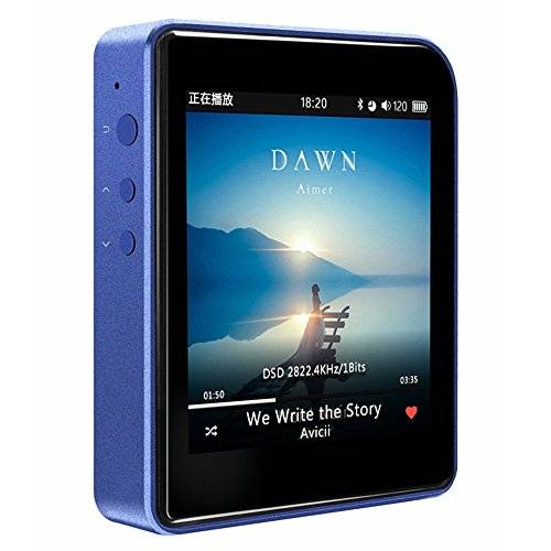 """SHANLING M1 Extreme Mini 24Bit/192KHz Professional Portable HiFi Lossless Bluetooth 4.0 Music Audio MP3 Media Player Support DSD128 with 2.35"""" TFT LCD Display Built-in Battery Blue"""