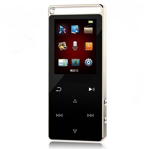 Chenfec MP3/MP4 player touch screen metallo MP3 player 8 GB supporto scheda SD da 64 GB e gioco film FM radio photo Viewer HiFi MP3 Music player