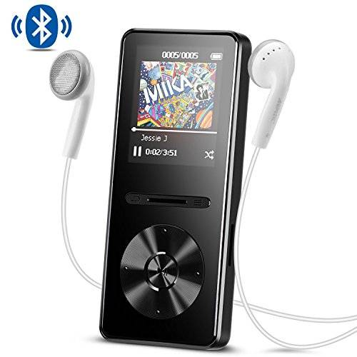AGPTEK Lettore MP3 con Bluetooth 4,0, Metal 8 GB Musica Player Hi-Fi Lossless Sound con Radio FM, Colore Nero A29TB