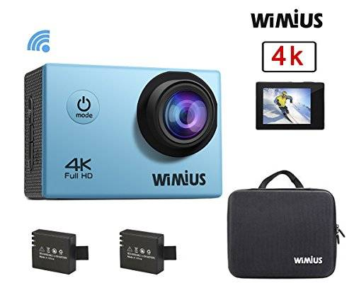 Wimius Action Cam 4K WIFI WebCamera Full HD 1080P 16MP Impermeabile Sport Camera 170 ° Grandangolare 2.0