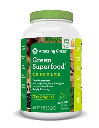 Amazing Grass Green Super Food Capsules, 150-Count Bottle