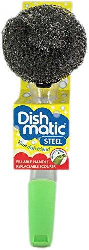 Caraselle Dishmatic Steel Scourer for cleaning BBQ's, Grills, Hot Plates, Steel Pots & Pans
