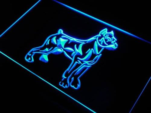 SiGN Insegna al neon j633-b Pit Bull DogTerrier Pet Shop Bar Neon Light Sign